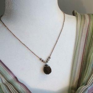 Vintage Garnet Hill hand-beaded necklace